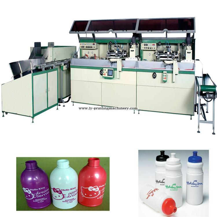 2 color full automatic screen printer for  bottle LY-S100R-2