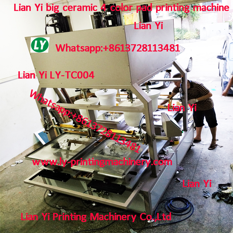 4 color ceramic tableware big pad printer With full Servo motor